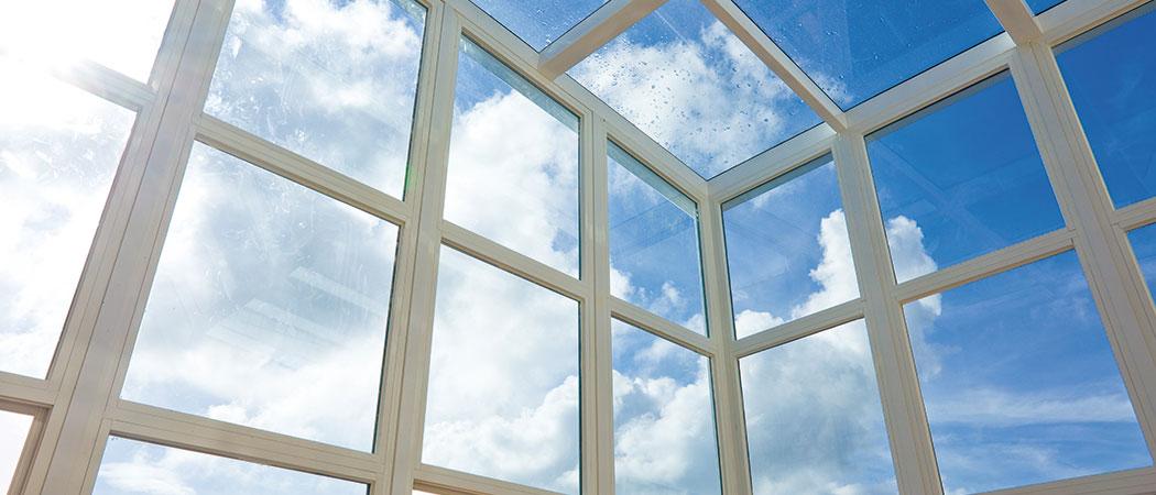 limpieza de ventanas brillantes
